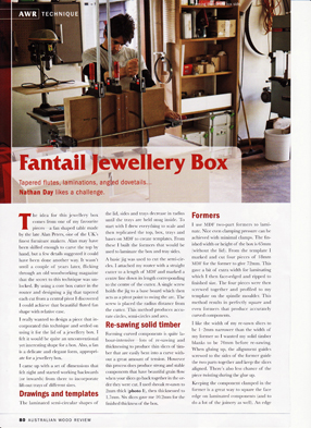 Making the Fantales Jewellery Box