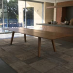 Custom ST1010 Dining Table in Solid American Oak. 3500 x 1300 x 740mm. Yallingup Western Australia