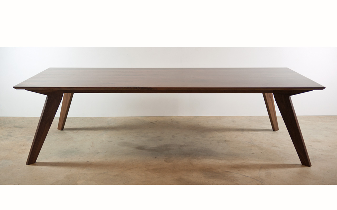 solid walnut dining table yallingup