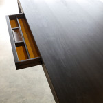 Irvine Desk Leather Lined Drawer Detail