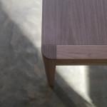 Irvine Desk- American Walnut - Corner Detail
