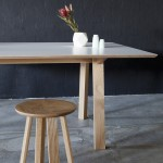 Wonton Meeting Table and Stool in American Oak Photo- Bo Wong
