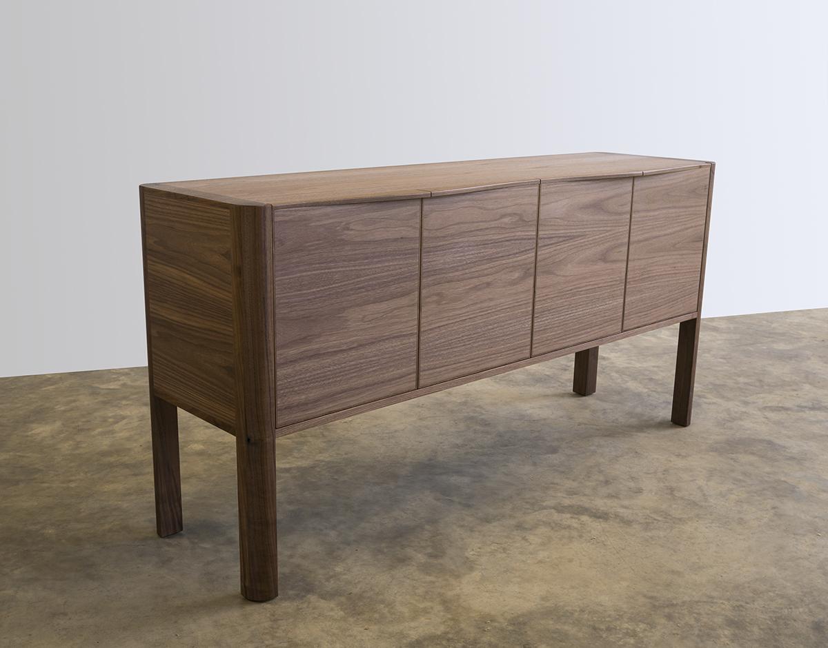 Irvine Credenza- American Walnut. 1500 x 400 x 720