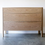 Chest of Drawers. 1250 x 500 x 900mm Soap finished American White Oak