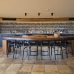 Low Back Bar Stools in Ebonised Victorian Blackwood, Longitude 131 Uluru Northern Territory, Australia