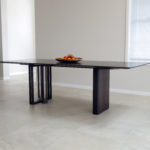 Custom Designed Ebonised Walnut Dining Table