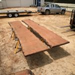 Book matched Jarrah Slabs