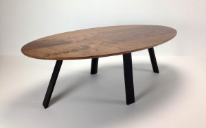 Malibu Coffee Table in Walnut and Ebonised Jarrah 1180 X 590 X 410mm