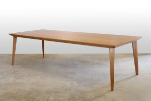Origami Dining Table in American Cherry. 2700 x 1100 x 740mm. Torsion box construction.