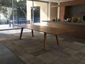 Custom ST1010 Dining Table in Solid American Oak. 3500 x 1300 x 740mm. Yallingup Western Australia