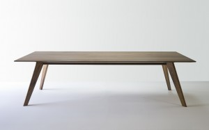 designer walnut dining table