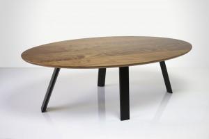 Malibu Coffee Table in Walnut and Ebonised Jarrah 1180 X 590 X 410mm