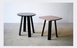 Wanton Side Tables in Black walnut with ebonised jarrah.