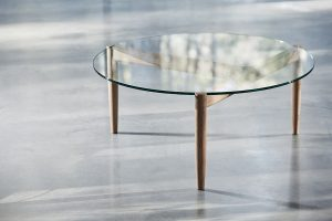 321 Coffee Table in American Oak D900 x 380mm. Photo Douglas Black