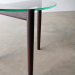 321 Side table in ebonised Jarrah D500 x 450mm