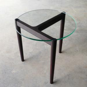 321 Side table in ebonised Jarrah D500 x 450mm