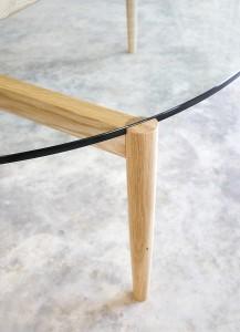 Oak Coffee Table- Leg detail