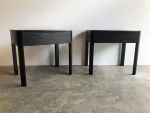 Custom Bedside Tables in Ebonised Oak. Darlington, Western Australia