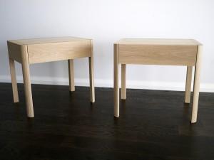 Soap Finished American Oak Bedside Tables. South Perth Western Australia