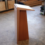 Lectern in Recycled Midland Oregon and Victorian Ash