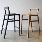 Oak & Ebonised Jarrah Low Back Bar Stool