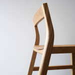 Oak & Ebonised Jarrah Low Back Bar Stool Detail