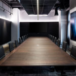 Boardroom Table for Woods Bagot Perth. 7M x 1.8M in Ebonised Jarrah. 2016- Palace Hotel Perth