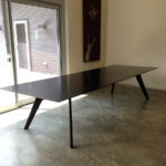 Vista St Dining Table. Ebonised Jarrah. Handcrafted in Dunsborough, Western Australia