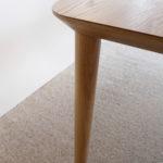 Corner Detail- Mercator Way Dining Table 2700 x 1100 x 740mm American White Oak