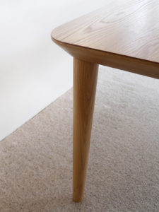 Corner Detail- Mercator Way Dining Table 2700 x 1100 x 740mm American White Oak