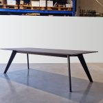 Vista St Dining Table. Handcrafted in Ebonised American Walnut