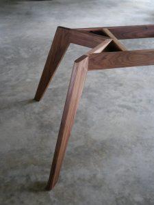 Vista St Table Base Detail in American Walnut
