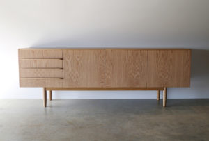 Custom Oak credenza, 2000 x 450 x 700mm