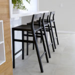 Low Back Bar Stools Handcrafted in Australian Blackwood