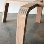 Over The Falls Coffee table, base joinery detail.