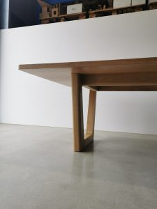 Clairault Dining Table. Handcrafted in Solid American Oak 2800 x 1200 x 740mm