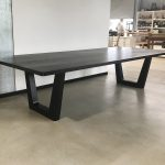 Clairault Dining Table- Handcrafted in Ebonised, Solid American Walnut.