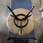 Custom Vista St dining table. D1400 x 740mm American Oak and Ebonised Victorian Blackwood. Halls Head, Western Australia