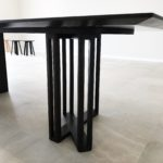 Detail, Custom Designed Ebonised Walnut Dining Table