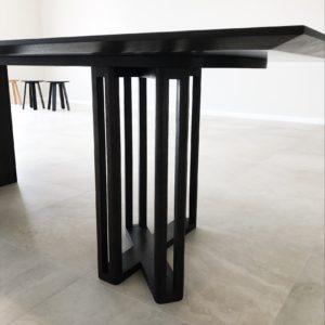 Detail, Custom Designed Ebonised Walnut Dining Table