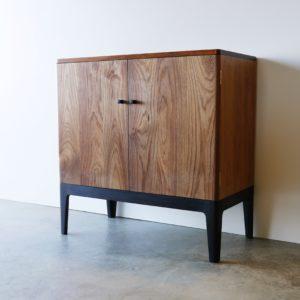 Custom record cabinet in Victorian Blackwood and ebonised Victorian Blackwood. Como Western Australia