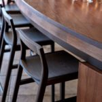 Low Back Bar Stools in Victorian Blackwood, Longitude 131 Uluru, Northern Territory, Australia