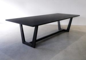 Botanical Dining Table, ebonised black American Oak