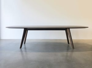 3000 x 1200mm Custom Designed Dining Table in Solid American Walnut for a private client in Pepermint Grove, Perth Western Australia