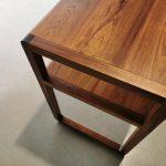 Custom Espresso Prep table in Solid Tasmanian Blackwood. Elizabeth Quay, Perth Western Australia