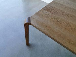 Araluen Dining Table. Leg Detail