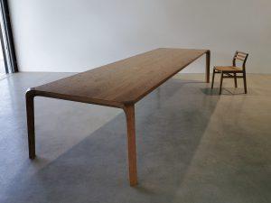 Araluen Dining Table. 4000 x 1100 x 740mm, American Oak with a Hard wax/Oil finish