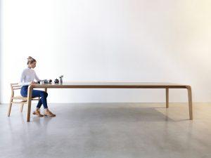 Araluen Dining Table. 3500 x 1100 x 740mm, American Oak with a Hard wax/Oil finish
