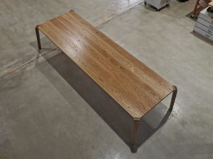 Araluen Dining Table. 3500 x 1100 x 740mm, American Oak with a Hard wax/Oil finish