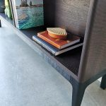 Bookcase in Ebonised and Scorched Jarrah. 1800 x 620 x 300mm